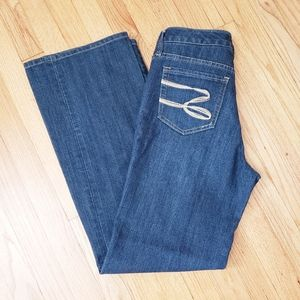 Seven7 | Mid-Rise Flare Med-Blue Wash Jeans 8